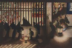 格子を隔てた2つの世界。吉原遊廓の内と外を、ドラマティックな明暗と陰影で描き出した葛飾応為の代表作「吉原格子先之図」