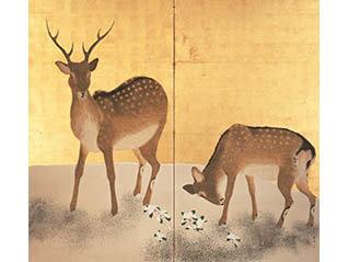 国宝 雪松図と動物アート