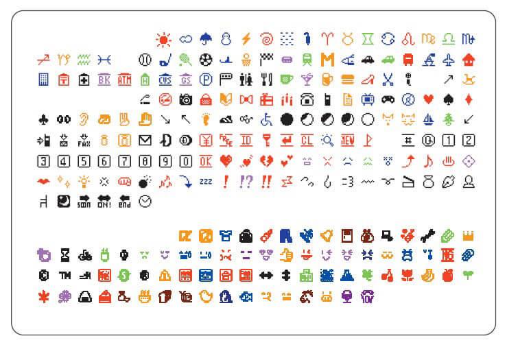 ケータイ絵文字のほっこりワールド NTT DOCOMO の初期の絵文字から 北海道立函館美術館-1