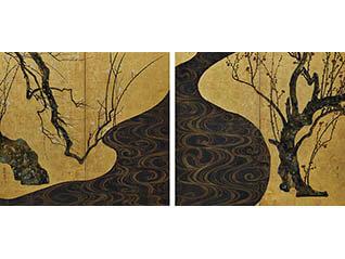 名品展 国宝「紅白梅図屏風」
