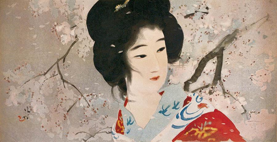清方、人物を描く-四季を彩る花...