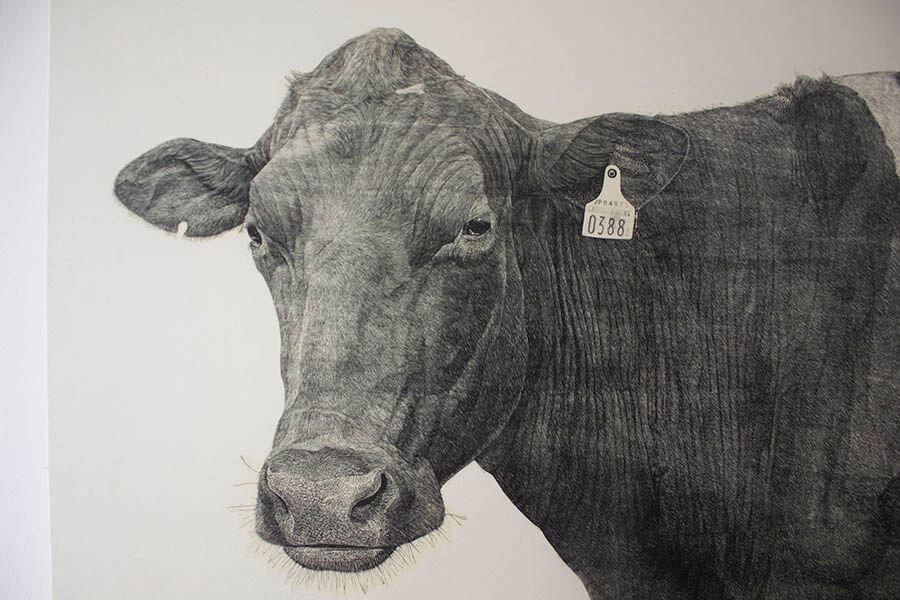 牛の足音―冨田美穂 牛の木版画展― 神田日勝記念美術館-2