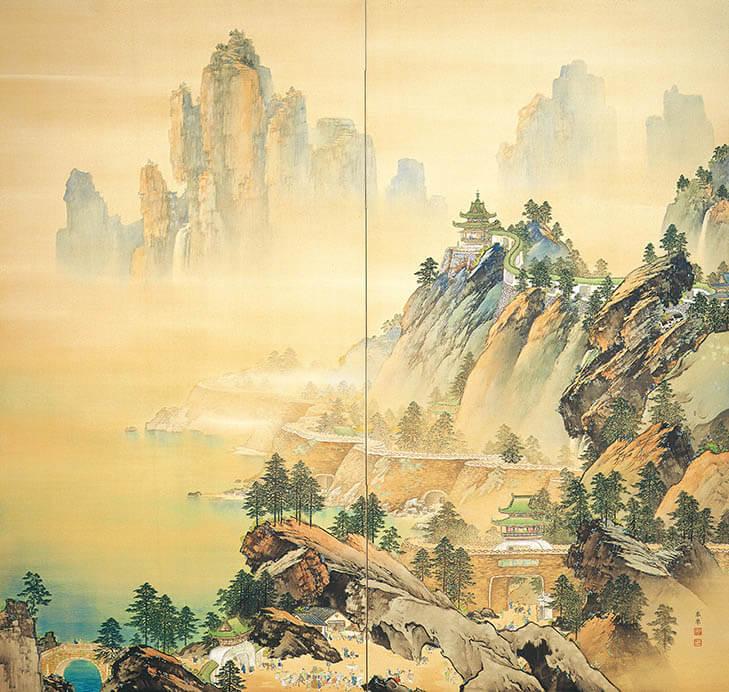 日本画家のつながり 横山大観をめぐる人物相関図  足立美術館-9