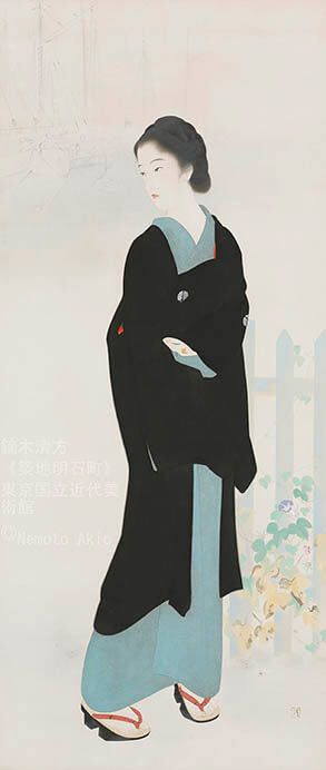 鏑木清方 幻の《築地明石町》特別公開 東京国立近代美術館-1