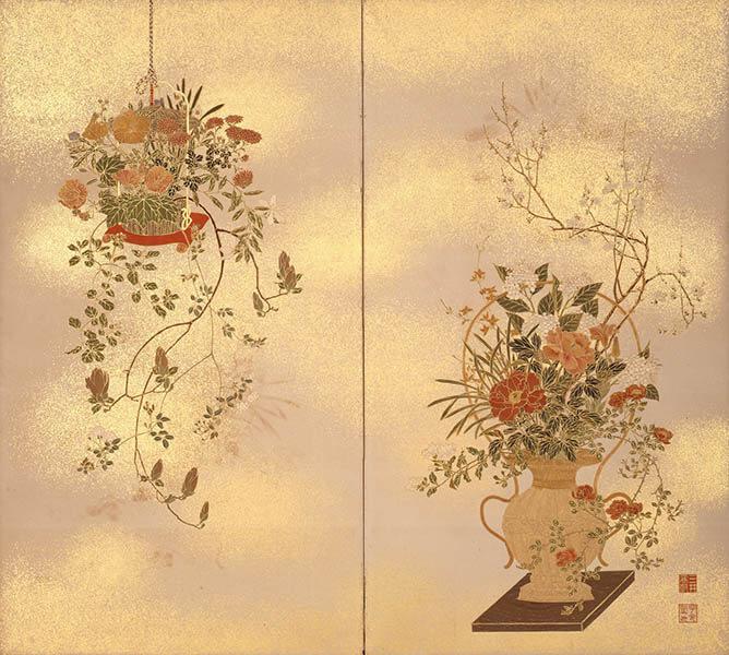 国宝 雪松図と明治天皇への献茶 三井記念美術館-11