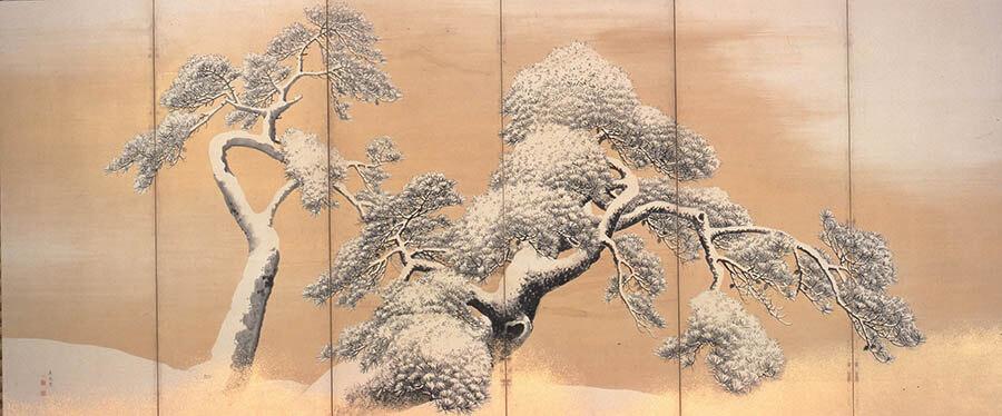 国宝 雪松図と明治天皇への献茶 三井記念美術館-3