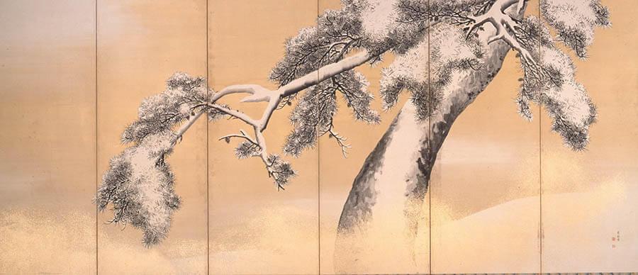 国宝 雪松図と明治天皇への献茶 三井記念美術館-4