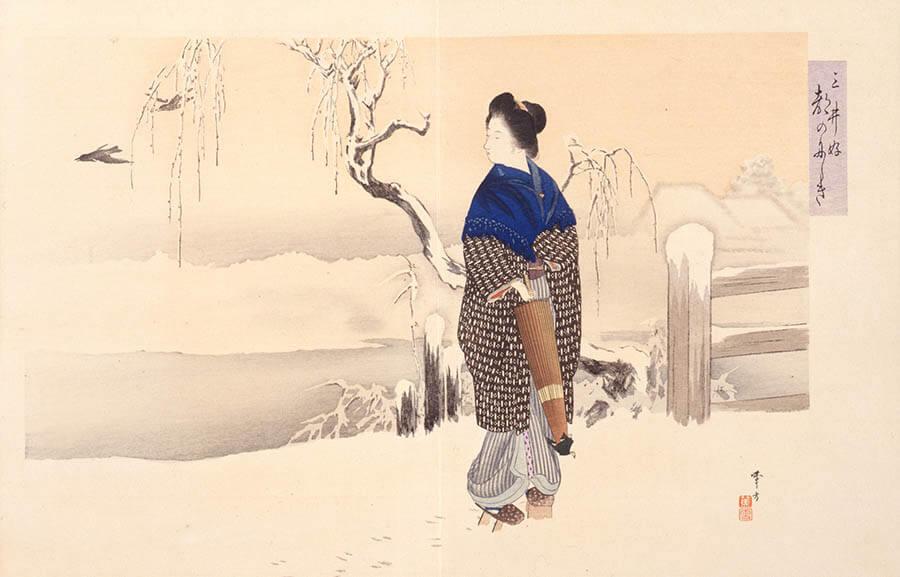国宝 雪松図と明治天皇への献茶 三井記念美術館-9