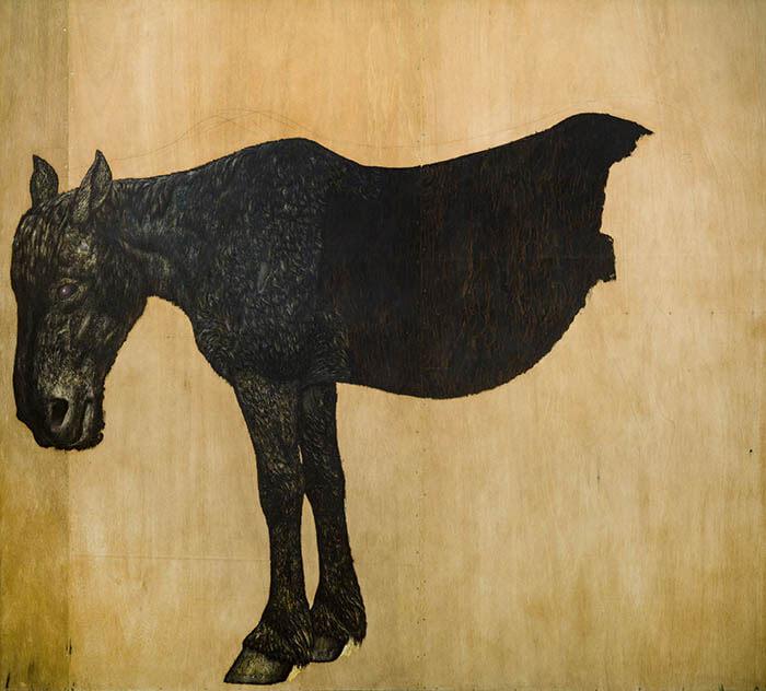 コレクション展1 神田日勝が描いた牛、馬、人物 Part2 神田日勝記念美術館-2