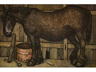 コレクション展1 神田日勝が描いた牛、馬、人物 Part2