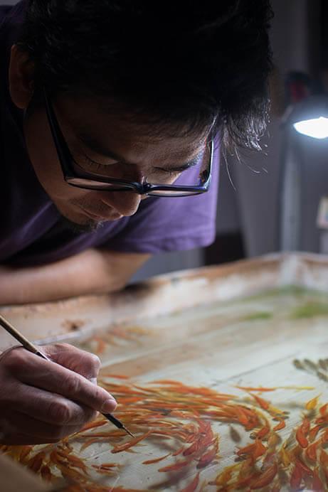 深堀隆介展「金魚鉢、地球鉢。」 上野の森美術館-8