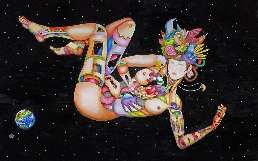 藤井フミヤ展 デジタルとアナログで創造する 多様な想像新世界 The Diversity 福岡アジア美術館-4